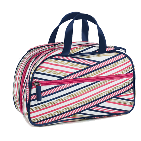 Trousse bowling rayures